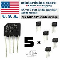 5PCS KBP307 Generic Diode Full Bridge Rectifier 3A 700V 4PIN