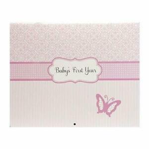 C.R Gibson Babies First Year Calendar w/ Stickers~Bella~ Girls 13 Month Calendar