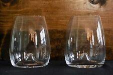 Waterford Crystal Elegance Stemless Set of 2 Wine Glasses Tumblers PAIR