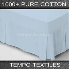 EGYPTIAN COTTON 1000TC VALANCE  BLUE  QUEEN BED