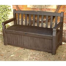 Storage Deck Box Outdoor Container Bin Chest Patio Keter 70 Gallon Bench Seat