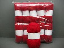 Mohair Wool Yarn 50g Ball Cherry Red 78 Mohair Double Knitting (2nm)