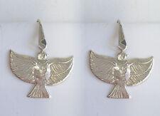 Orecchini pendenti con la COLOMBA della PACE in Argento 925 - pendente con amo