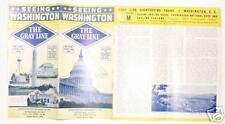 Seeing Washington Dc Grayline brochure 1941 See !