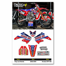 2002 - 2004 HONDA CRF 450 TLD Dirt Bike Graphics kit Motocross Graphics Decal