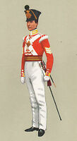 Vintage Militaire Britannique Uniforme Imprimé ~1833 Sergent 13th Light Infantry