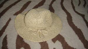 OLD NAVY 3-6 DARLING STRAW METALLIC BEACH HAT GIRLS