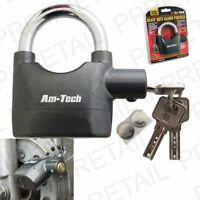 HIGH SECURITY ALARM LOCK - Alarm Padlock Bike Motorbike Wheel