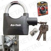HIGH SECURITY ALARM LOCK - Alarm Padlock Bike Motorbike Wheel