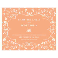 48 Forget Me Not Printed Wedding Save Date Cards