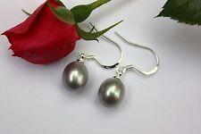 E19G VERO perle d'acqua dolce GIOIELLO Orecchini pendenti a farfalla argento 925