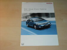 18580) Honda Civic Hybrid Preise Extras Prospekt 2006