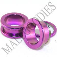 """0523 Hot Pink Purple Screw-on/fit Flesh Tunnels 5/8"""" Inch 16mm Ear Plugs"""