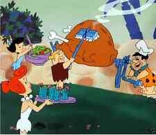 The Flintstones BBQ in Bedrock Ltd Edition Sericel Cel FRED WILMA BETTY & BARNEY
