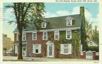 Dover Kent County Delaware The Old Ridgley House on The Green 1930s Postcard