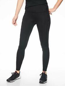 Athleta PrimaLoft® Ridge Tight Black Fleece NWT $98 XS
