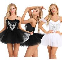 Women Adult Ballet Dance Dress Classic Swan Lake Professional Tutu Skirt Costume