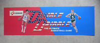 "original DOUBLE DRIBBLE KONAMI   24 1/2 - 7 3/4"" arcade game sign marquee cF42"