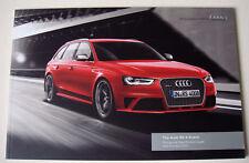 Audi . RS4 . Audi RS 4 Avant . April 2014 Sales Brochure