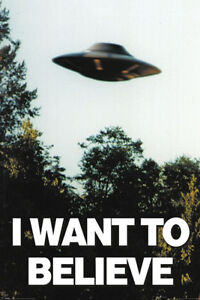 X-files - I Want To Believe - Akte X UFO Aliens TV Film Poster