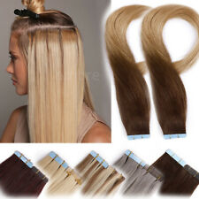 AU CLEARANCE Tape In Russian Human Remy Hair Extensions Skin Weft 10-80pcs Ombre