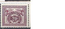 belgisch congo cob tax 79 (1957) postfris xx