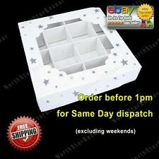 **SPECIAL OFFER** 100x Empty pick and mix sweet boxes with silver stars FREE P&P