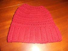 Crochet Pattern - Pony Tail Messy Bun Hat