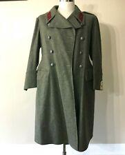 Vintage Wwii Swedish Coastal Artillery Grey Wool Overcoat Wwii 1940's Sweden