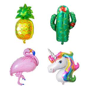 Auseller Huge Flamingo Pineapple Unicorn Foil Balloon Birthday Party Decor Tropi