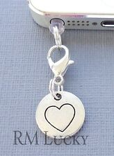 Pendant Tag Heart cell phone Charm Tag Anti Dust proof Plug ear cap jack C183