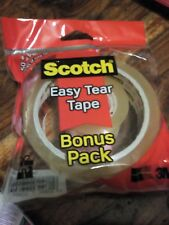 SCOTCH TAPE SELLOTAPE CLEAR WRAPPING PACKING GENERAL 3M 50M X 25MM+30M X19MM