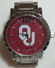 New Oklahoma Sooners Mens Watch, Bracelet, Metal, Gift for Him Anniversary