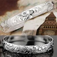 1X Weiblich Schmuck 999 Sterling Silber Armreifen Manschette Armbänder Hohe-Q ZR