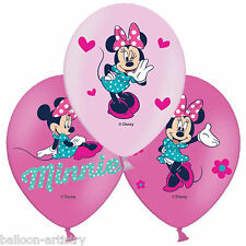6 Disney's Minnie Mouse Funky Pink Luxury 4 Colour Printed Latex Balloons