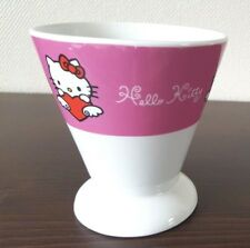 Hello Kitty Ice Cream Sundae Ceramic Bowl Dish Mug Sanrio 10cm Tall 2007