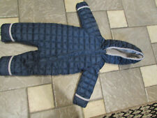 NEW SNOZU BLUE BABY BUNTING SNOWSUIT FLEECE LINED 9-12M BABY BOY FREE SHIP