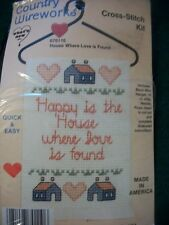 """What's New """"House Where Love Is Found"""" Cross Stitch Kit Size 3 1/2"""" x 7"""""""