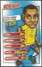 MATCH MAGAZINE SOCCER STAR CARICATURE CARD-BRAZIL-ROBINHO