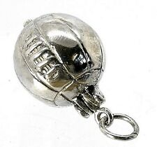VINTAGE SILVER LARGE OPENING JULES RIMET WORLD CUP FOOTBALL CHARM/PENDANT