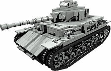 CUSTOM building INSTRUCTION for WW2 PANZER IV TANK to build out of LEGO® parts