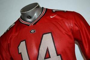 25040-a Boys Nike Football Jersey University Georgia UGA DAWGS Size Large Red