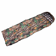 """3 Seasons Outdoor Camping Picnic Portable 220cm 87"""" Sleeping Bag Leaf Camouflage"""