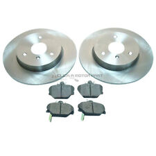 SMART CAR FORTWO ROADSTER CABRIO COUPE FRONT 2 BRAKE DISCS AND PADS SET NEW