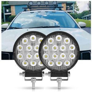 2X 4.4inch Round Spot LED Work Light Bar Pods Lamp Offroad Driving SUV ATV Truck