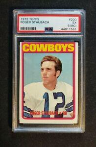 1972 Topps Football #200 Roger Staubach ROOKIE RC PSA 5 EX (MC)