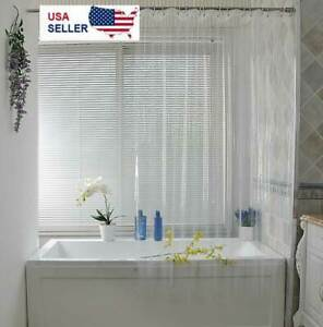 Clear Shower Curtain Liner Anti-Bacterial PEVA 72x72 Water Repellent US