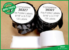 "4 Rolls of Dymo Compatible 9/16"" X 3-7/16"" Address Mailing Postage 30327 Labels"