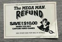 The Mega Man Refund Vintage Capcom NES Promo Mail-In Rebate / Insert