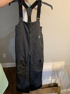 Obermeyer - Kids Size 8 Gray Ski Snowboard Pants Bib I-Grow